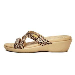 Crocs Women's Leopard Sandal Slides Size 4